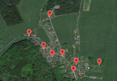 Mapa hydrantů v obci